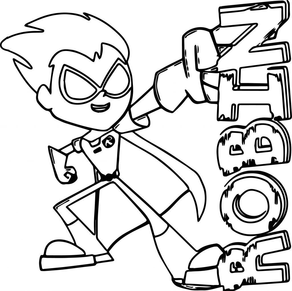 Teen Titans Coloring Pages New Teen Titans Coloring Pages Bday Bbzu