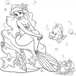The Little Mermaid Coloring Pages Marvelous Ariel Coloring Pages Line