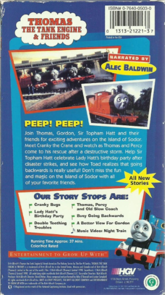 Thomas the Train Cranky Inspirational Thomas the Tank Engine & Friends Rare Vhs Video Cranky Bugs Tested