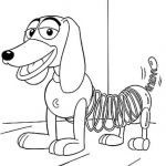 Toy Story Coloring Page Marvelous Slinky Dog Coloring Page
