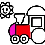 Train Coloring Pages for Preschoolers Creative Easy Train and Sun Coloring Page for Kids and Children Art Learn to