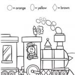 Train Coloring Pages for Preschoolers Inspiration Worksheets Color by Shape Train Preschool Items Juxtapost