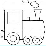 Train Coloring Pages for Preschoolers Inspiring Train Coloring Book Page Stock Vector Illustration Of Public