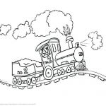 Train Coloring Pages Free Creative Printable Train Template – Thanksteam
