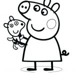 Transparent Coloring Pages Amazing Peppa Pig Pictures for Colouring – Sharpball