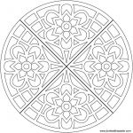 Transparent Coloring Pages Excellent Flower Waffle Coloring Page My Mandalas