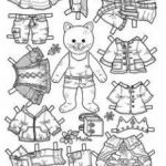 Transparent Coloring Pages Inspired Paper Doll Coloring