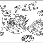 Transparent Coloring Pages Pretty Good Looking Peace Dove Coloring Page