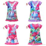 Trolls Branch Color Beautiful 2019 Trolls Poppy Branch Princess Dress Children High Quality