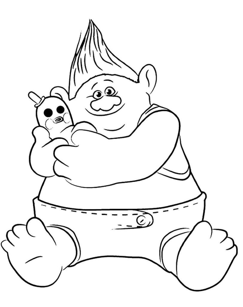 Trolls Branch Color Inspirational Free Troll Colouring Pages Trolls and Fairies