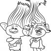 Trolls Branch Color Pretty Free Trolls Coloring Pages