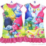 Trolls Branch Color Wonderful 2019 Girls Trolls Poppy Branch Princess Dress 2017 New Children