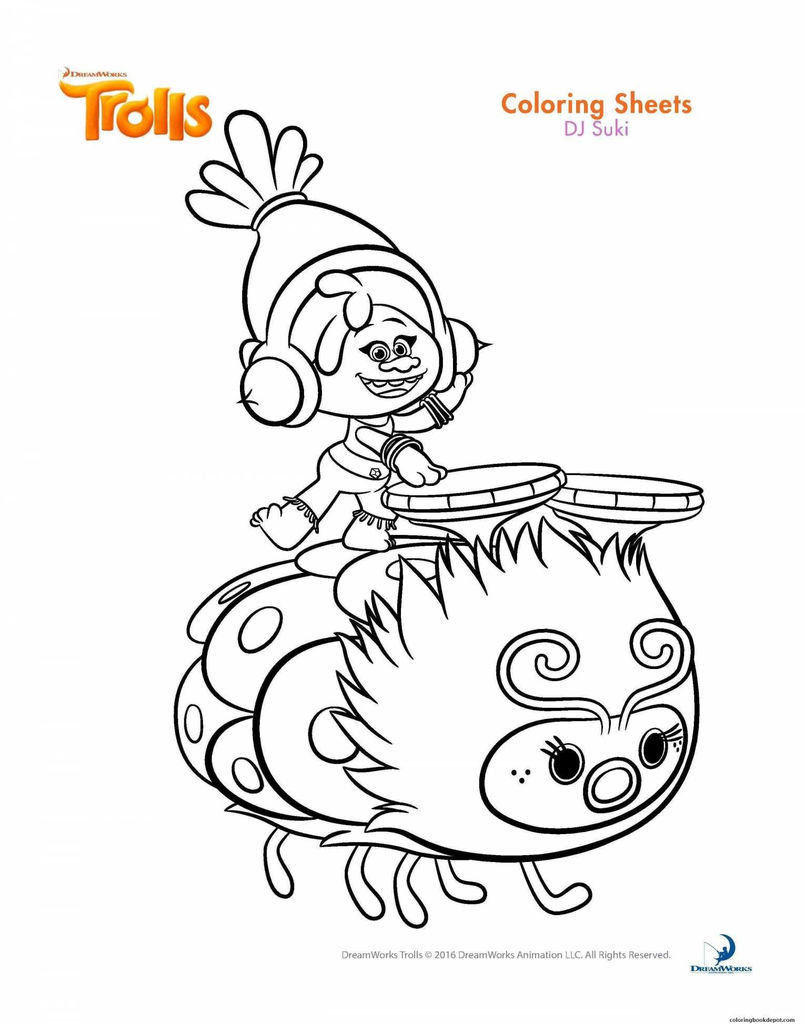 Trolls Coloring Sheets Creative Lovely Trolls Coloring