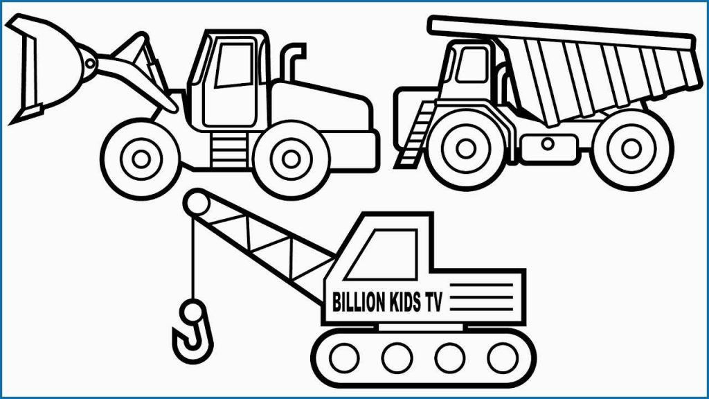New Construction Trucks Coloring Pages – Nocn