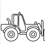 Truck Coloring Books Inspirational forklift Coloring Pages