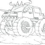 Truck Coloring Books Inspired Monster Truck Coloring Page