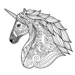 Unicorn Coloring Pages for Adults Beautiful Coloring Page Coloring Page Cute Adult Pages Unicorn Head Simple