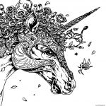 Unicorn Coloring Pages for Adults Marvelous Coloring Coloringtangle Pages Animal for Kids to Print Free