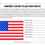 United States Flag Printable Creative United States Flag Fun Facts Worksheet Lesson Planet