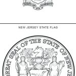 Us Flag Coloring Page Marvelous astounding New Jersey State Flag Coloring Page Inspirational Seal
