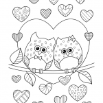 Valentine Color Pages Printable Fresh Valentine S Day Coloring Pages Ebook Owls In Love with Hearts