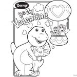 Valentine Coloring Pages Free Best Barney Coloring Pages Be My Valentine Free Printable Coloring Pages