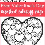 Valentines Color Pages Inspiring Free Valentines Day Colouring Page for Adults