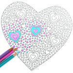Valentines Day Hearts Coloring Pages Awesome Coloring Page Sample Page 5