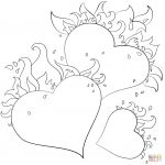 Valentines Day Hearts Coloring Pages Inspirational Valentines Day Blank Hearts Coloring Page Free Printable and Pages