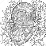 Vintage Coloring Pages for Adults Awesome Divers Helmet Drawing at Getdrawings