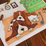 Vintage Coloring Pages for Adults Fresh Basset Hound Life Vintage Inspired Dog Coloring Page for Adults
