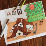 Vintage Coloring Pages for Adults Inspirational Basset Hound Life Vintage Inspired Dog Coloring Page for Adults