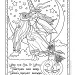 Vintage Coloring Pages for Adults New Coloring Amazing Halloween Witch Coloring Pages at Getdrawings
