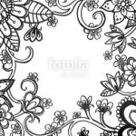 Vintage Coloring Pages for Adults Unique Adult Coloring Book Page Of Abstract Flower Doodles On Border Hand
