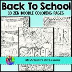 Welcome Back to School Coloring Pages Brilliant Back to School Coloring Pages Zen Doodles Tpt Products