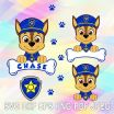 What are the Names Of the Paw Patrol Dogs Inspirational Svg Dxf Png Paw Patrol Head Layered Cut Files Chase Dog Bone