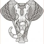 Zen Coloring Pages Creative Elephant Coloring Pages Elephant Abstract Doodle Zentangle