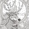 Zen Coloring Pages Inspiring Hand Drawn Reindeer with Ethnic Pattern Coloring Page Zendala