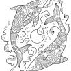 Zentangle Coloring Pages Inspirational Dolphin Zentangle Coloring Page Art Projects