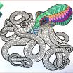 Zentangle Coloring Pages Inspired Pdf Drawing Octopus Pdf Zentangle Coloring Page Coloring Pages